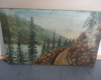 Very cool Signed and Dated Painting - Sunset Highway