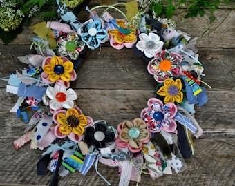 Decorative Wreaths , Summer Front Door Wreaths , Bright Decor Wreath,Colorful Wreaths, Beautiful Wreaths, Provence Wreath, Ring Wreaths