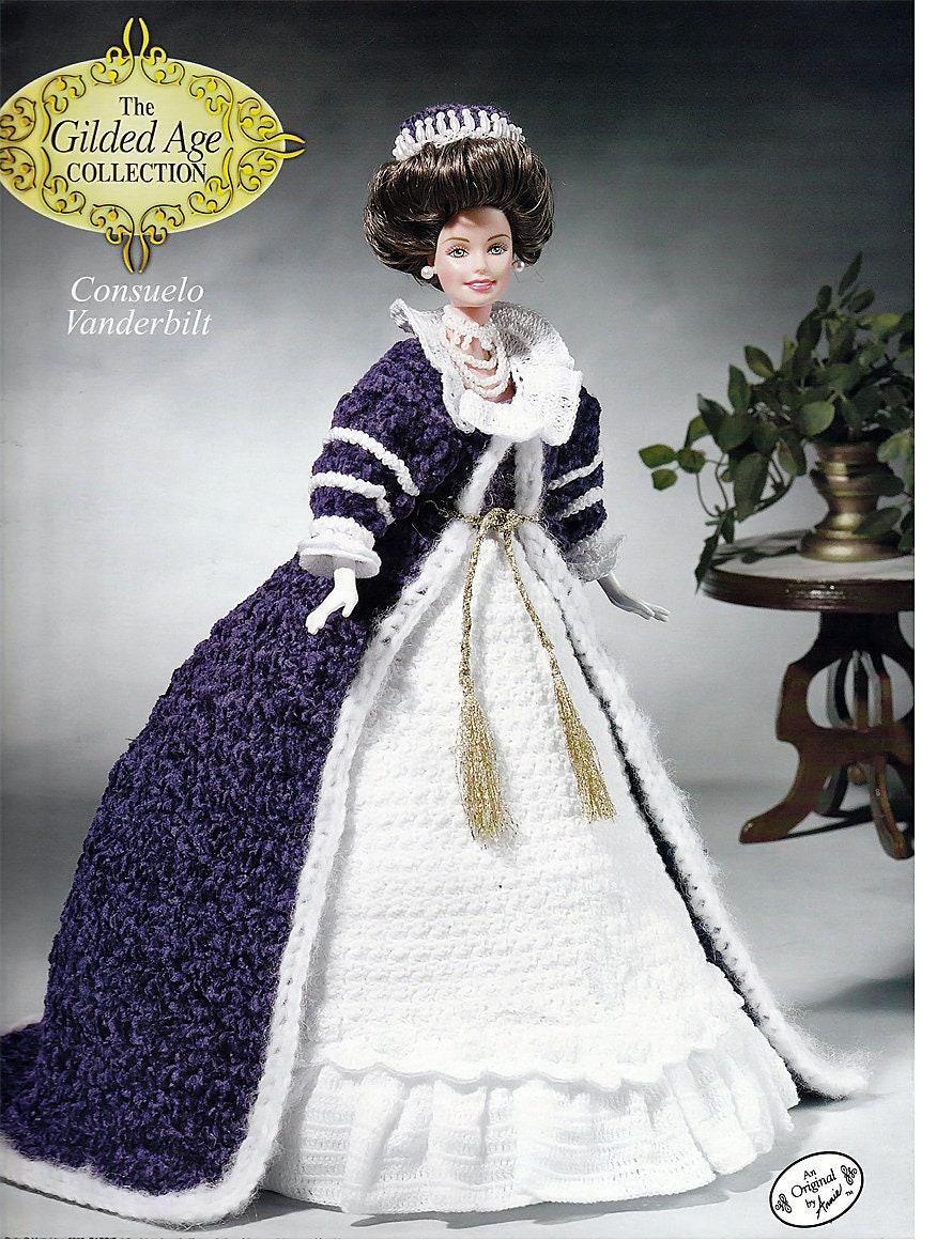 Die vergoldeten Alter Sammlung Consuelo Vanderbilt Mode Puppe