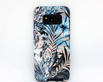 For Galaxy s7 tough case, for Galaxy s6 tough case, for Galaxy s5 tough case, for Galaxy s6 case, for samsung galaxy s8 case - Floral