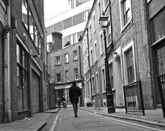 Black and White Print - London Photography - Hanway Place Alleyway