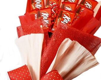 KitKat Chocolate Bouquet- Candy Arrangement Love Red/Anniversary Bouquet