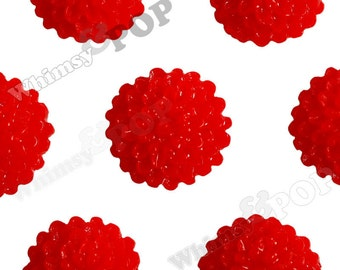 Red Tiny Dahlia Flower Cabochons, Flat Back Embellishment, Mum Cabochon, Dahlia Flatbacks, Flat Back Flower, Flat Backs, 10mm x 5mm (R4-007)