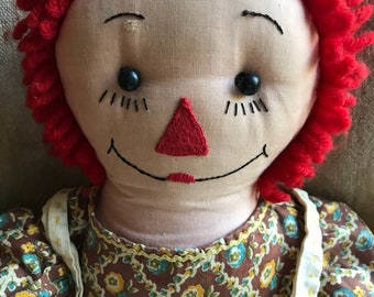 Old Handmade Raggedy Ann Doll
