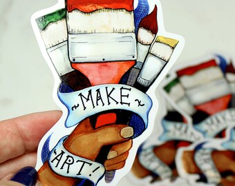 Make Art Sticker by Surly Amy Davis Roth