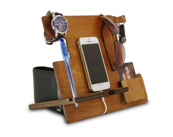 Cell Phone Stand, iPhone Dock and Charging Station, Desktop Stand for iPhone Plus or any Mobile Phone, Smartphone Stand and Phone Shelf