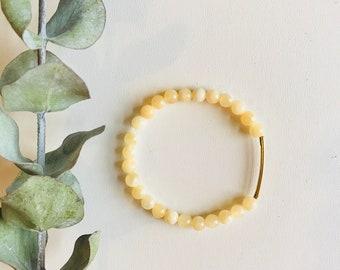 Calcite, Mala Bracelet, Yoga Bracelet, Gemstone Bracelet, Meditation Bracelet, Crystal Healing Jewelry, Spiritual Gift