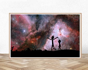 rick and morty rick and morty poster rick rick morty rick sanchez geek geek wall art nerd decor nerd space hubble galaxy space & Geek wall art | Etsy