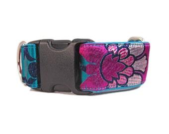 Pink Dog Collars, Custom Dog Collars, Fancy Dog Collar, Girl Dog Collars, Female Dog Collar, Wide Dog Collar, Large Dog Collar