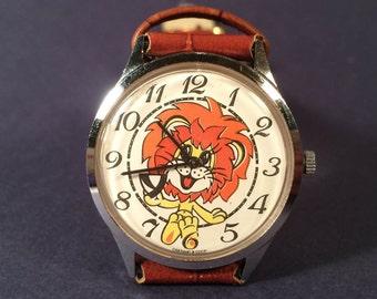 Beautiful  watch TSCHAIKA (Seagull) USSR  Watch  SERVICED- Leather watchband