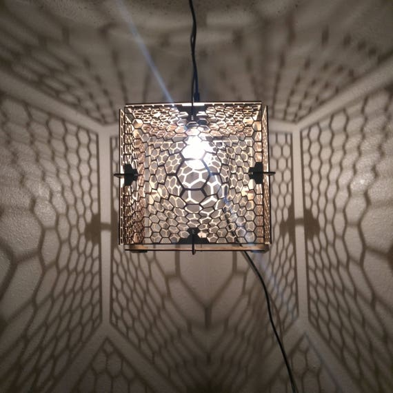 HONEY CUBE Lamp - Hanging Ceiling Pendant Shadow
