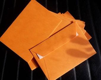 "Orange Envelopes - 115 x 160 mm - 4.53 x 6.3 "" - for DIY postcards photos etc.-"