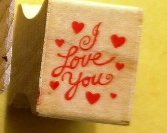 Pair of Love Rubber Stamps - used