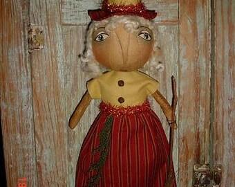 PATTERN Blonde Witch  Primtive Halloween Doll