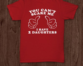 I have 2 daughters t-shirt tee shirt tshirt Christmas dad father daddy family fun father's day grandfather family gift for dad best dad top