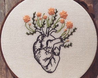 Embroidery Growing Heart