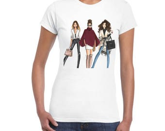 Fashion Models T-Shirts, DTG printed Jr Cit T-Shirt For Women..!