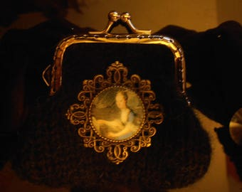 door wallet black deco Marie-Antoinette (5)