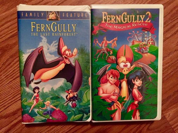 Ferngully the last rainforest set 2 women,Men,Kids