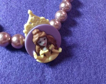 Belle Necklace - Belle Choker - Beauty and the Beast Necklace