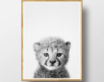 Cheetah Cub Print, Baby Animal Prints, Baby Cheetah Print, Nursery  Animal Print, Baby Animal Art, Nursery Printable, Nursery Animals