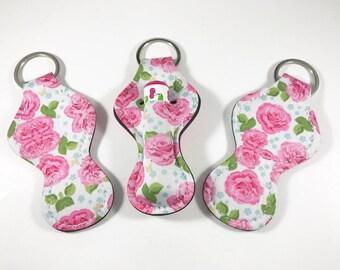 Baume à lèvres détenteurs, trousseau de baume à lèvres, baume à lèvres porte rose Floral