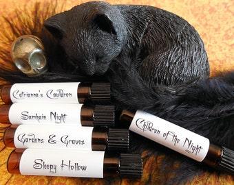 HALLOWS EVE Perfume Sample Set # 1, Halloween Perfume, Vampire Perfume, Gothic Perfume