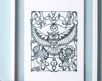 Owl Screen Print