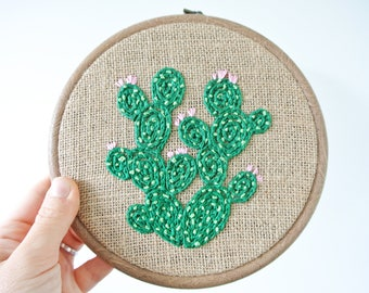 Cacti Embroidery Hoop Art/ Home Decor
