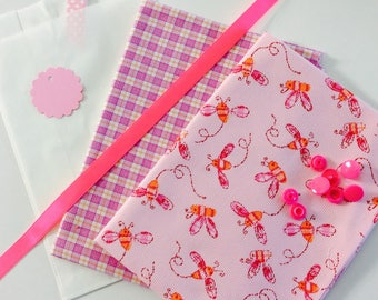 Kit sewing gift in pink and orange tones (REF. K25)