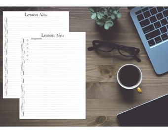 Lesson / Class / School / College Notes Refills / Insert: Classic 7 x 9.25 - Disc bound PLANNER PRINTABLE