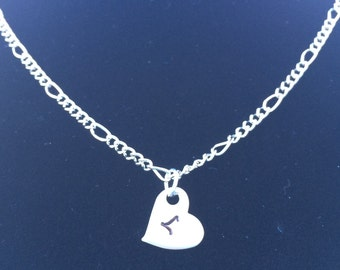Initial Heart Necklace - Personalization Optional