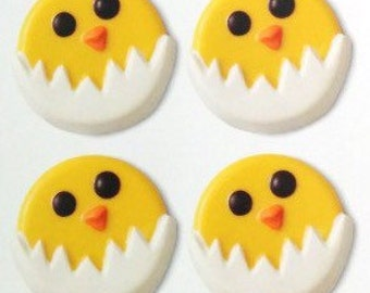 Hatching Chick Chocolate Covered sandwich Cookie