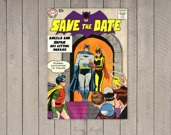 Comic Book Wedding invitation Spider-Man Save the Date