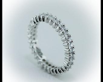 Princess Cut Diamond Eternity Band