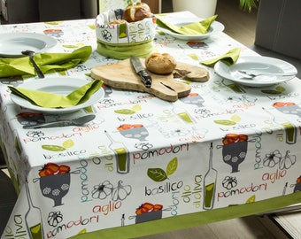 Tablecloth 170 x 135 cm, colourful Italian design
