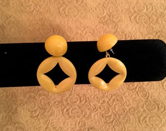 Bold Yellow Dangle Earrings