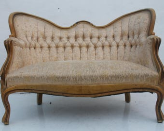 French Antique Settee/ Loveseat.