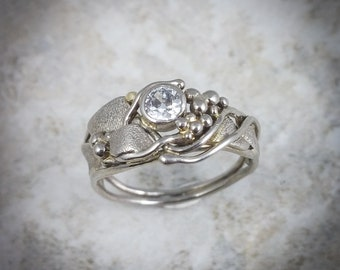 Diamond Ring, One of a kind in white gold