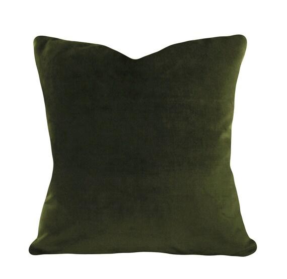 Green Velvet Pillow Cover Decorative Pillow Both Sides