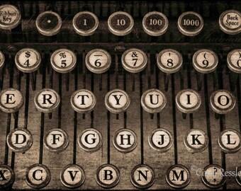 Photography, Typewriter Keys 2, Still Life, Abstract, Fine Art, Photo, Office Decor, Wall Art, Unique Gift, Wall Decor, Housewarming Gift