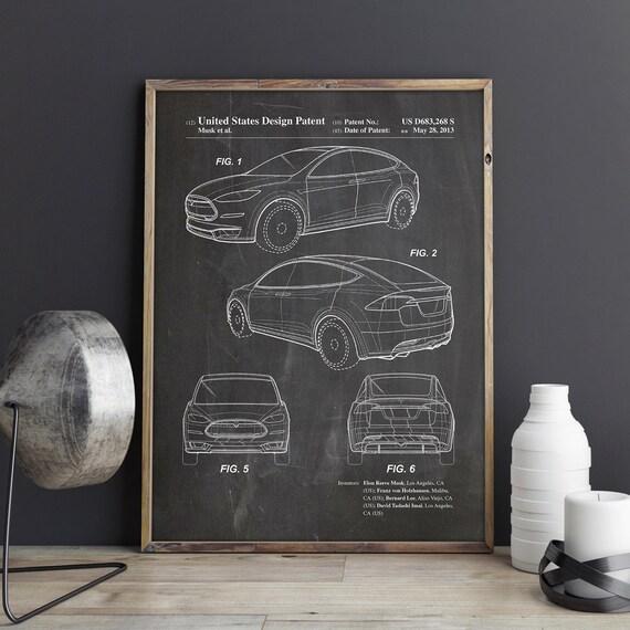 Tesla model x poster tesla motors art tesla decor tesla malvernweather Images