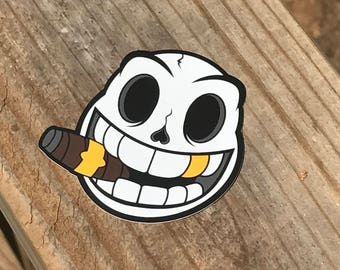 "3"" x 3"" Skulls N Smiles Sticker"