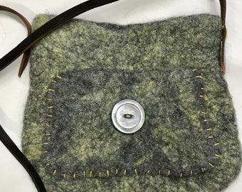 Gray Felted Purse