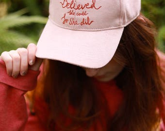 Hand Painted She Believed Cap