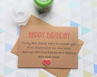 Marvelous Best Friend Card, Best Friend Birthday, Bestie Card, Card For Best Friend,