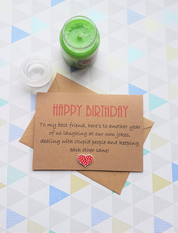 Best Friend Card Best Friend Birthday Bestie Card Card For