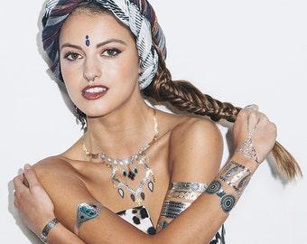 Metallic Temporary Tattoo (Set of 4 Sheets) - Bali