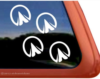 "Hoof Prints | DC787PL | High Quality Adhesive Vinyl Window Decal Sticker - 5"" tall x 5"" wide"