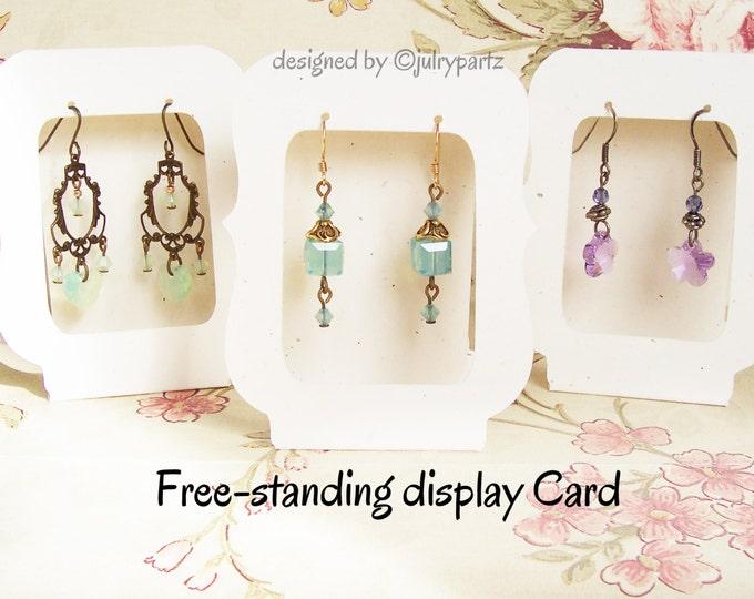 36•Zoe•Window•2.5 x 3.25 Free-Standing•EARRING CARDS•Jewelry Cards•Earring Display•Earring Card•Earring Holder